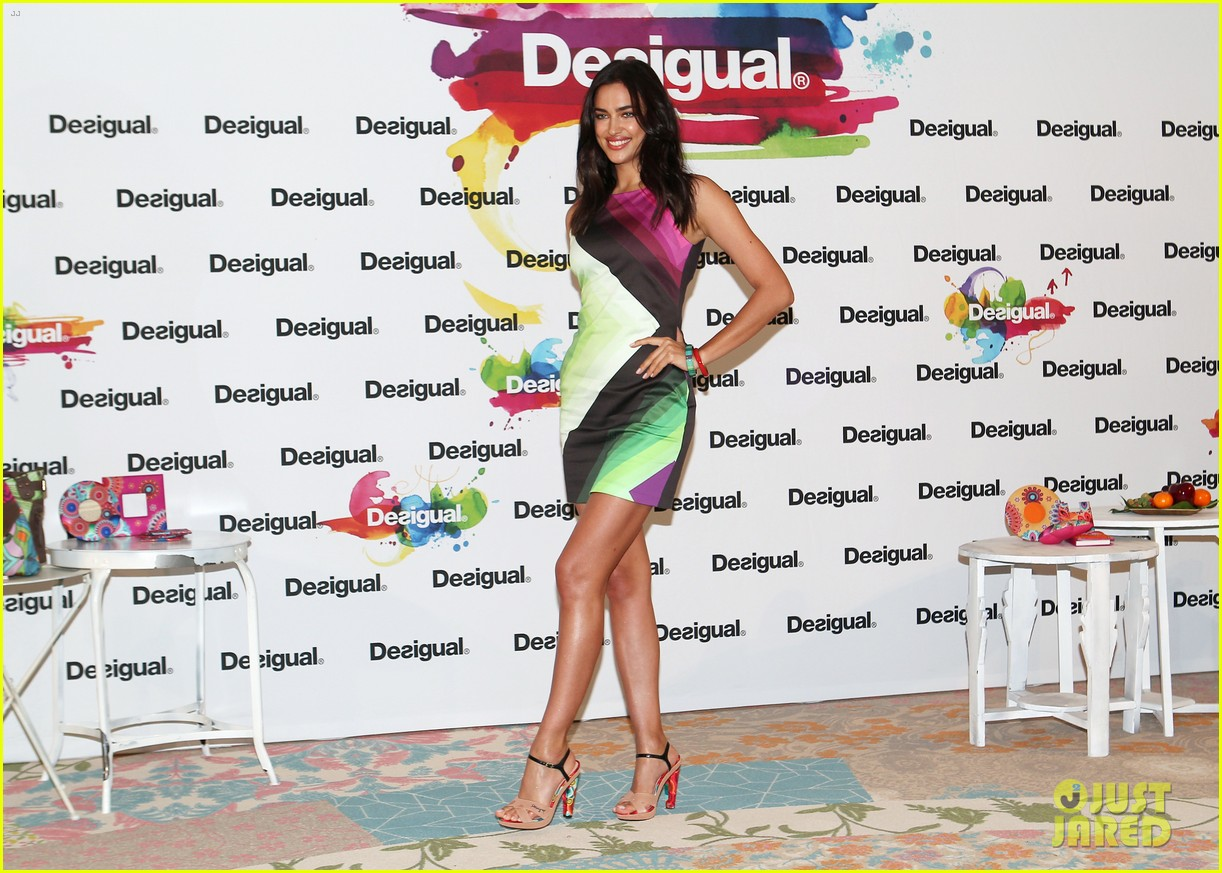 irina shayk presents new desigual campaign in spain 093042235