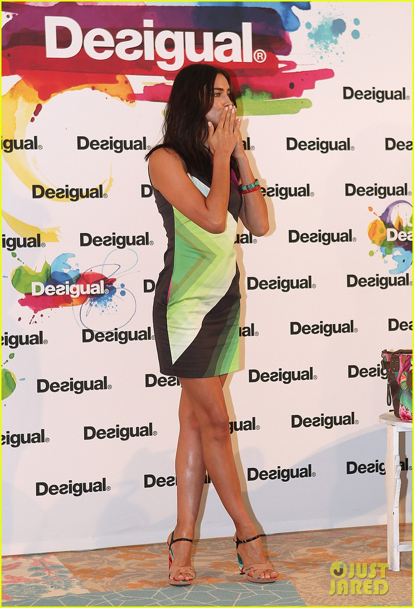 irina shayk presents new desigual campaign in spain 16