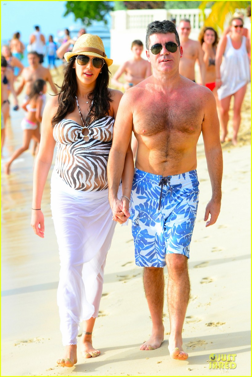 simon cowell lauren silverman hold hands on new year eve 013020706