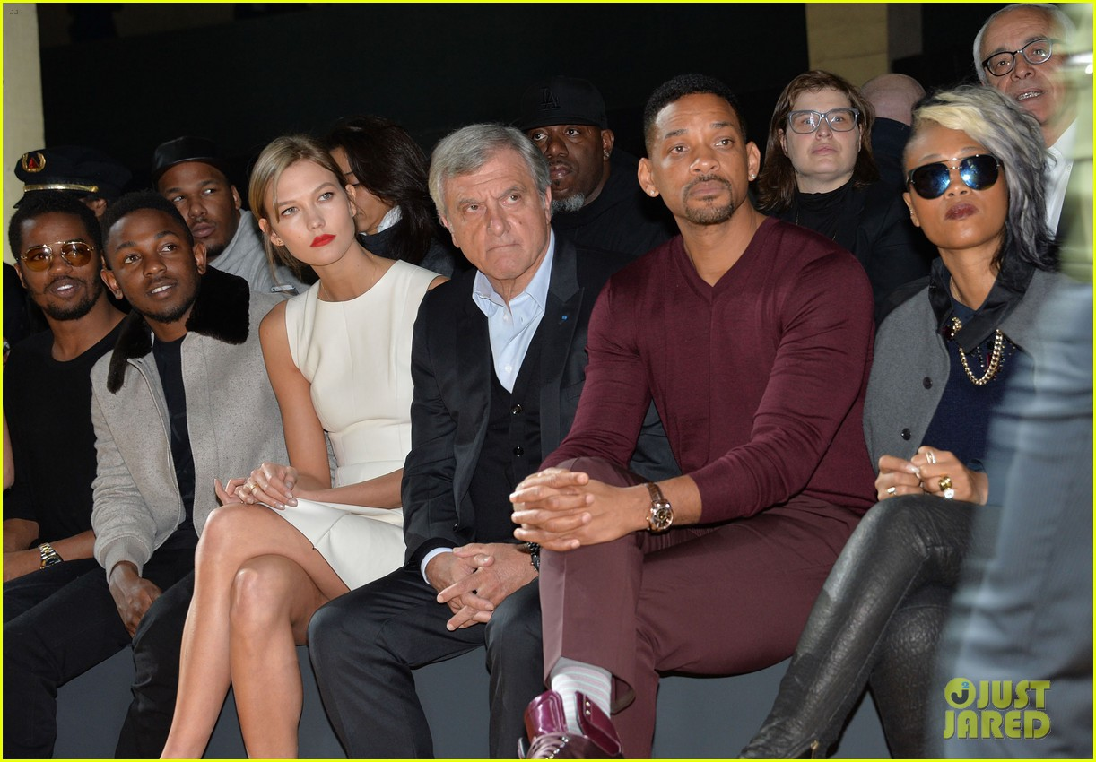 will smith karlie kloss dior homme fashion show 193035278