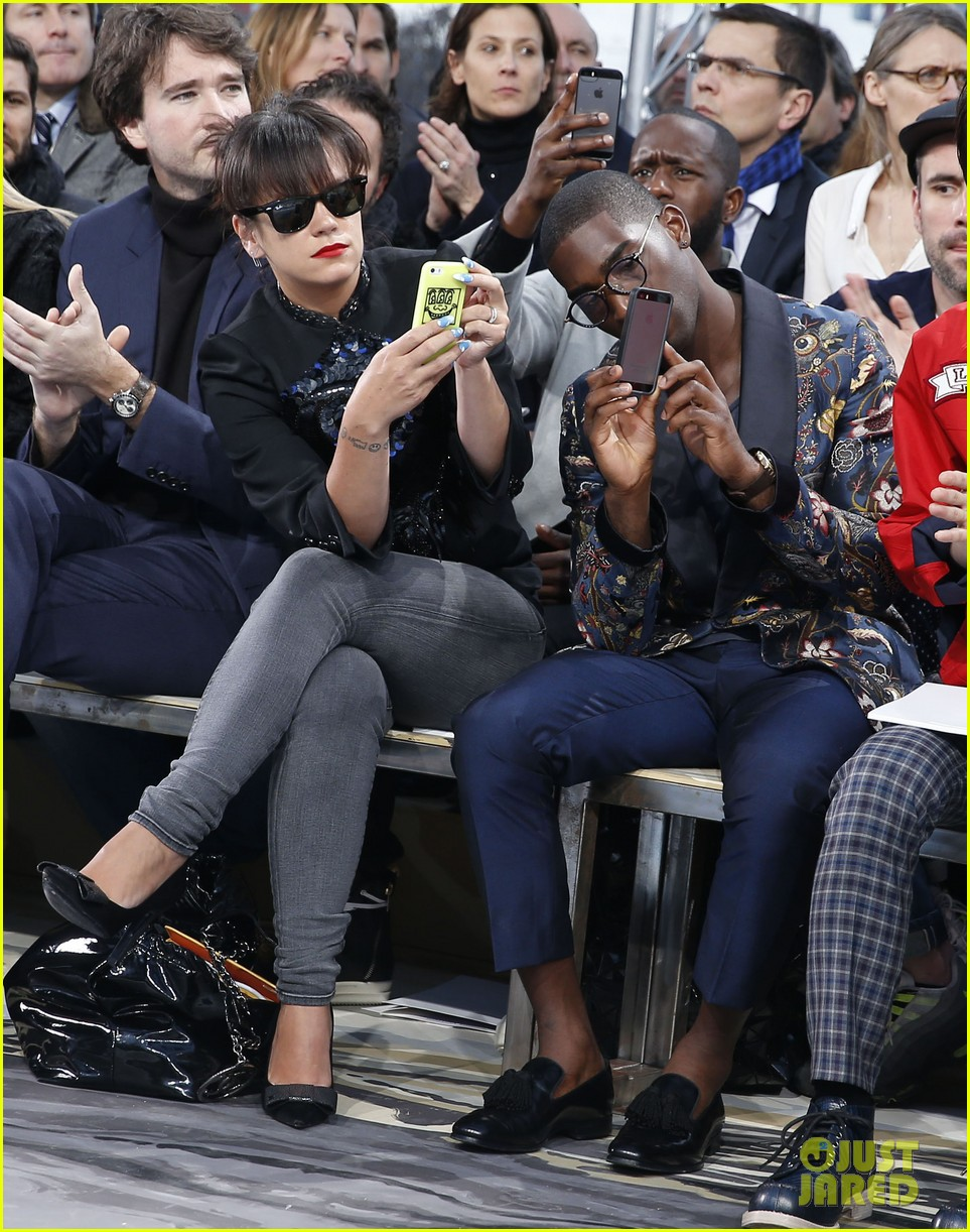 will smith lily allen louis vuitton fashion show 153032655