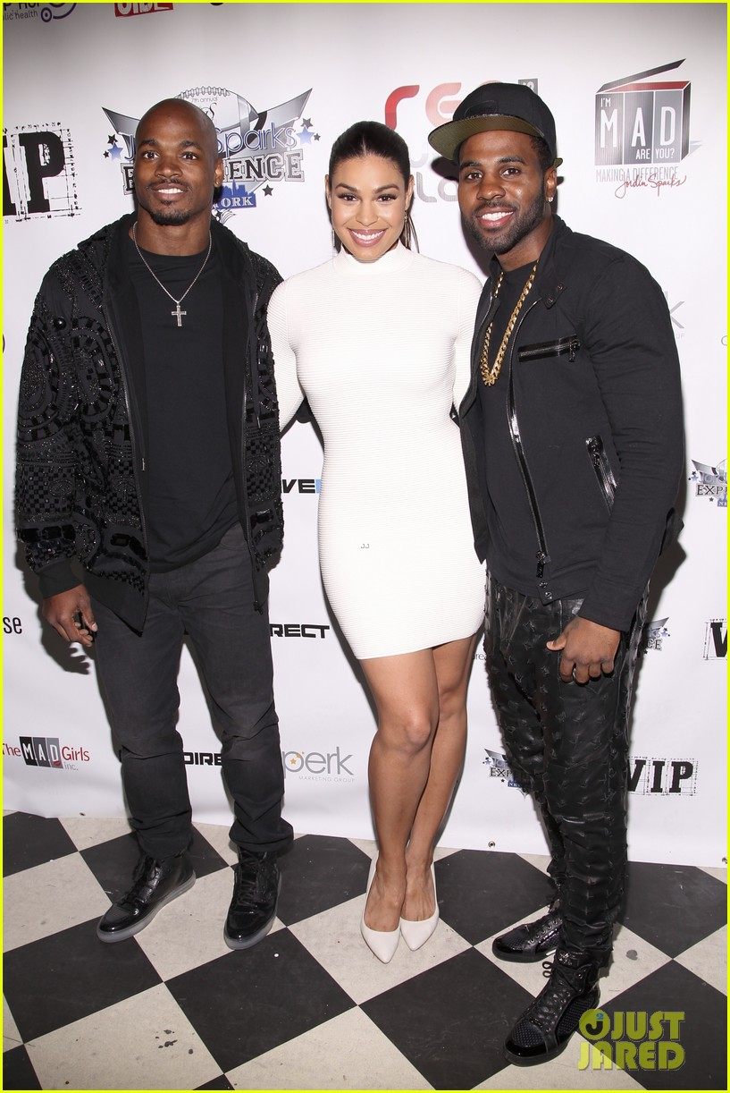 jordin sparks jason derulo red white black super bowl party 073044121