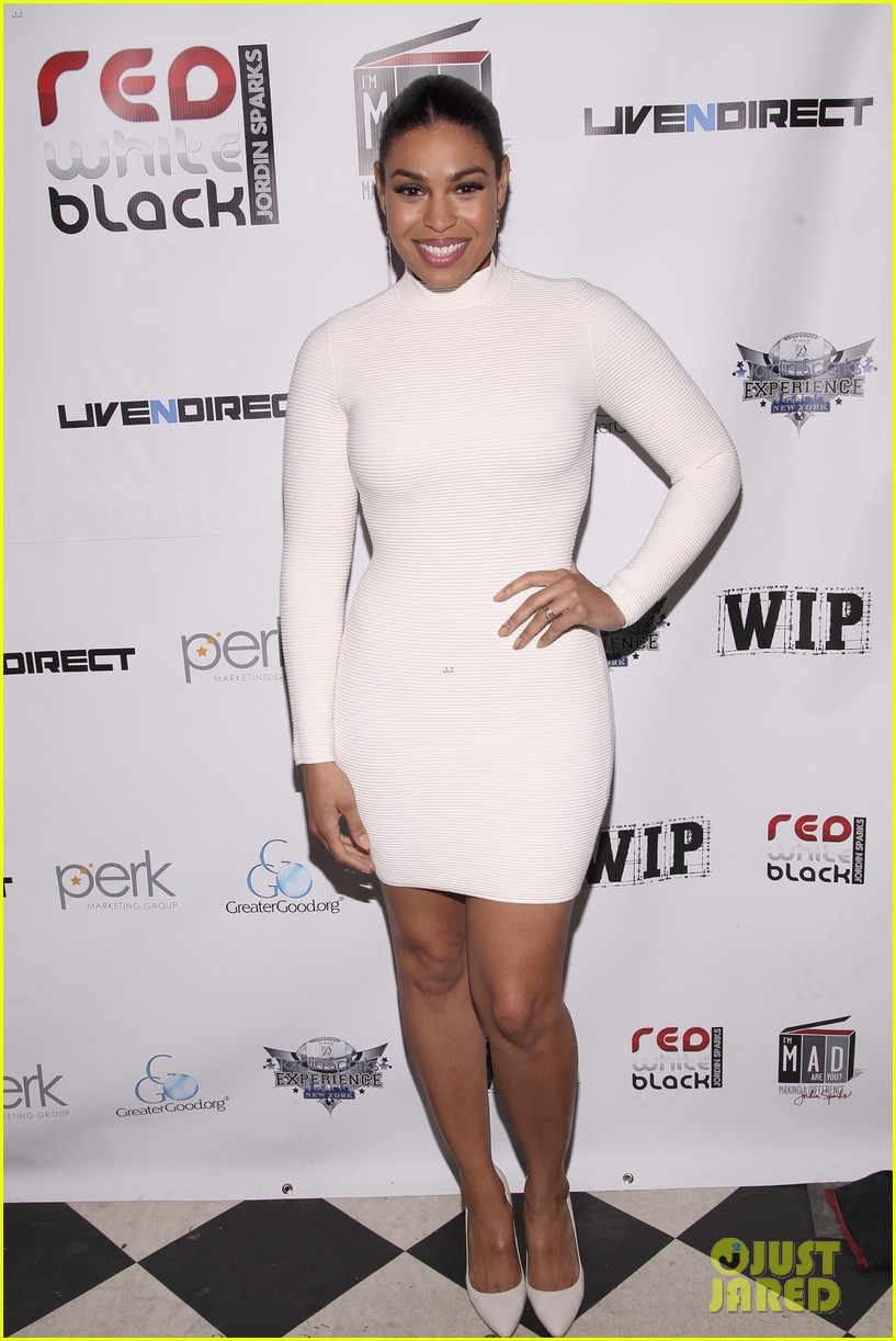 jordin sparks jason derulo red white black super bowl party 10