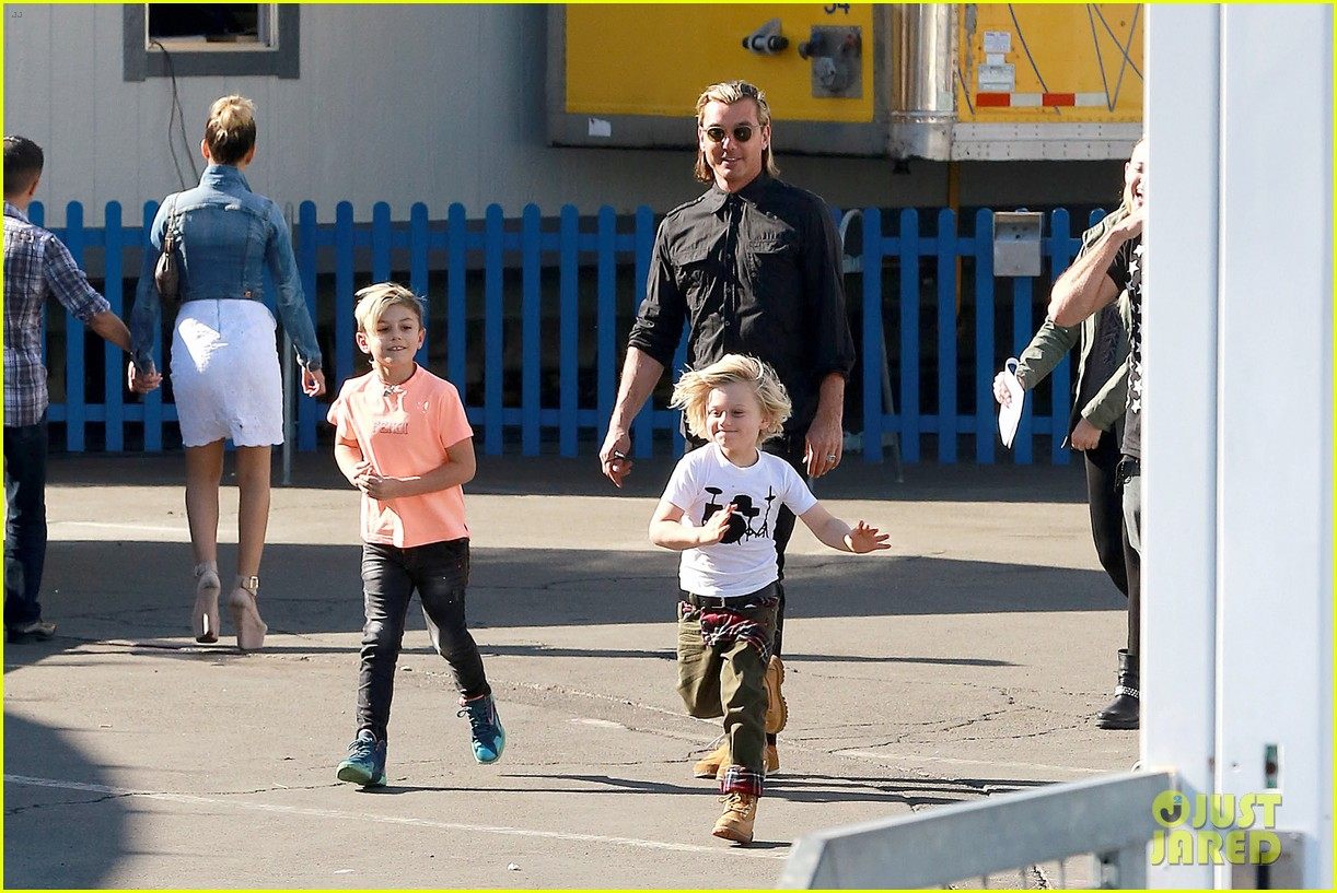 gwen stefani steps out with the family after baby boy news 173036996