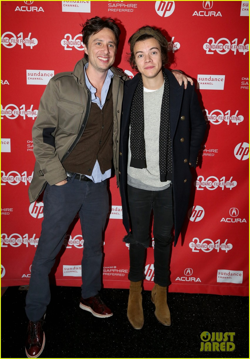 harry styles supports wish i was here cast at sundance 05