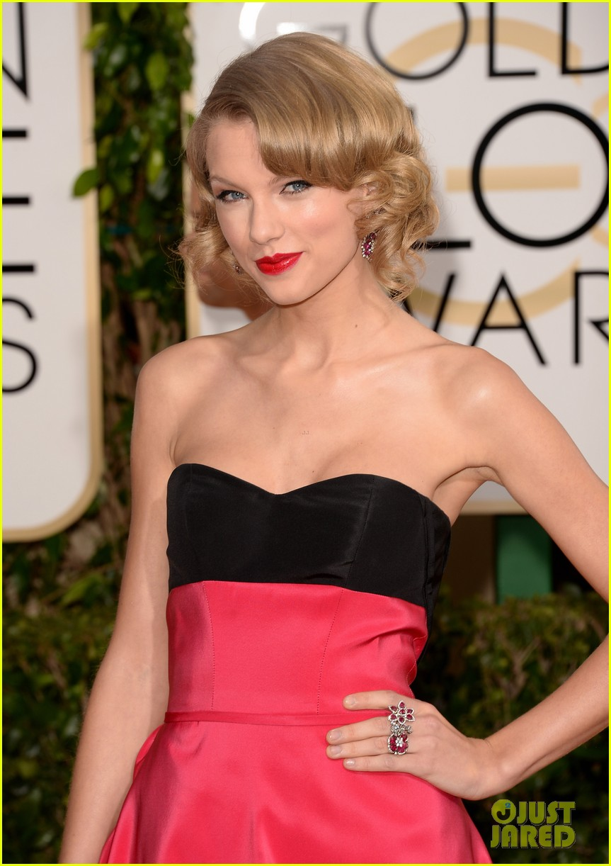 taylor swift golden globes 2014 red carpet 02