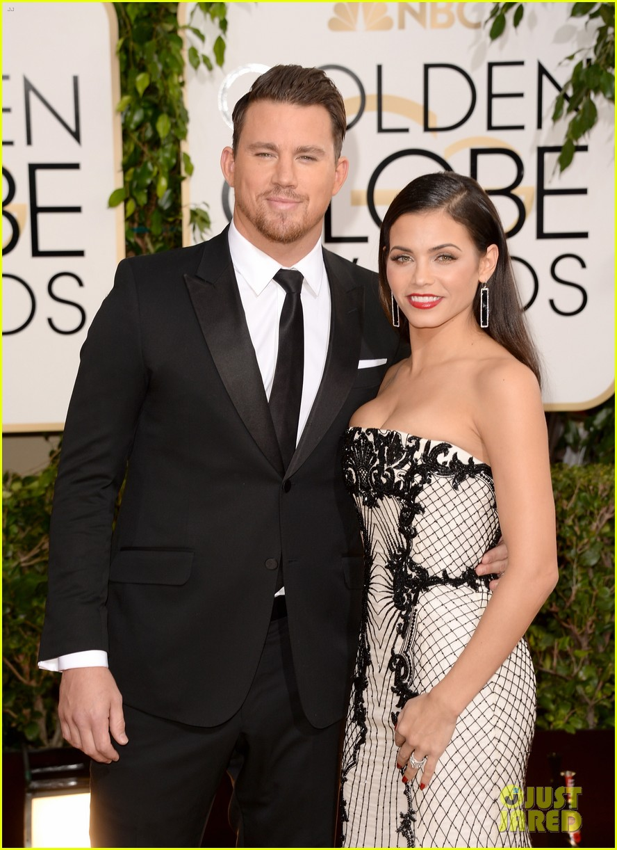 channing tatum jenna dewan golden globes 2014 red carpet 033029331