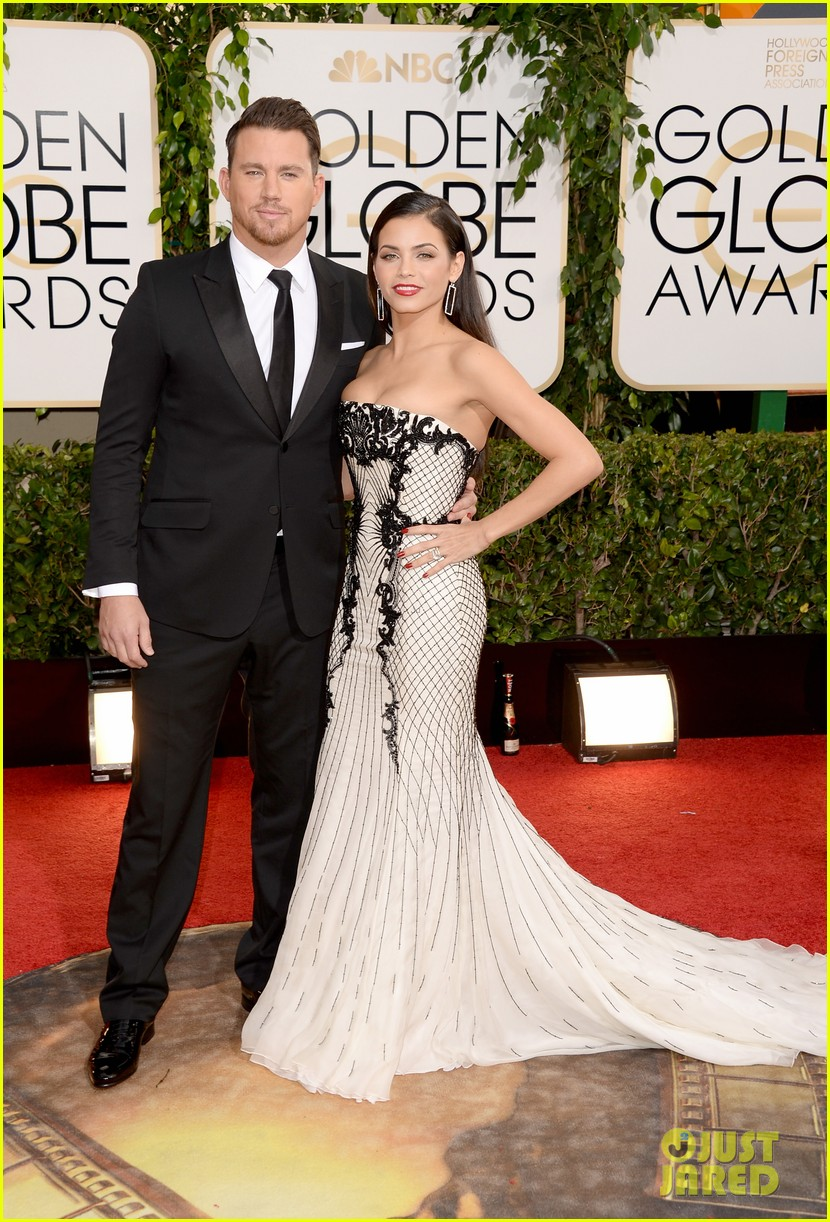 channing tatum jenna dewan golden globes 2014 red carpet 04