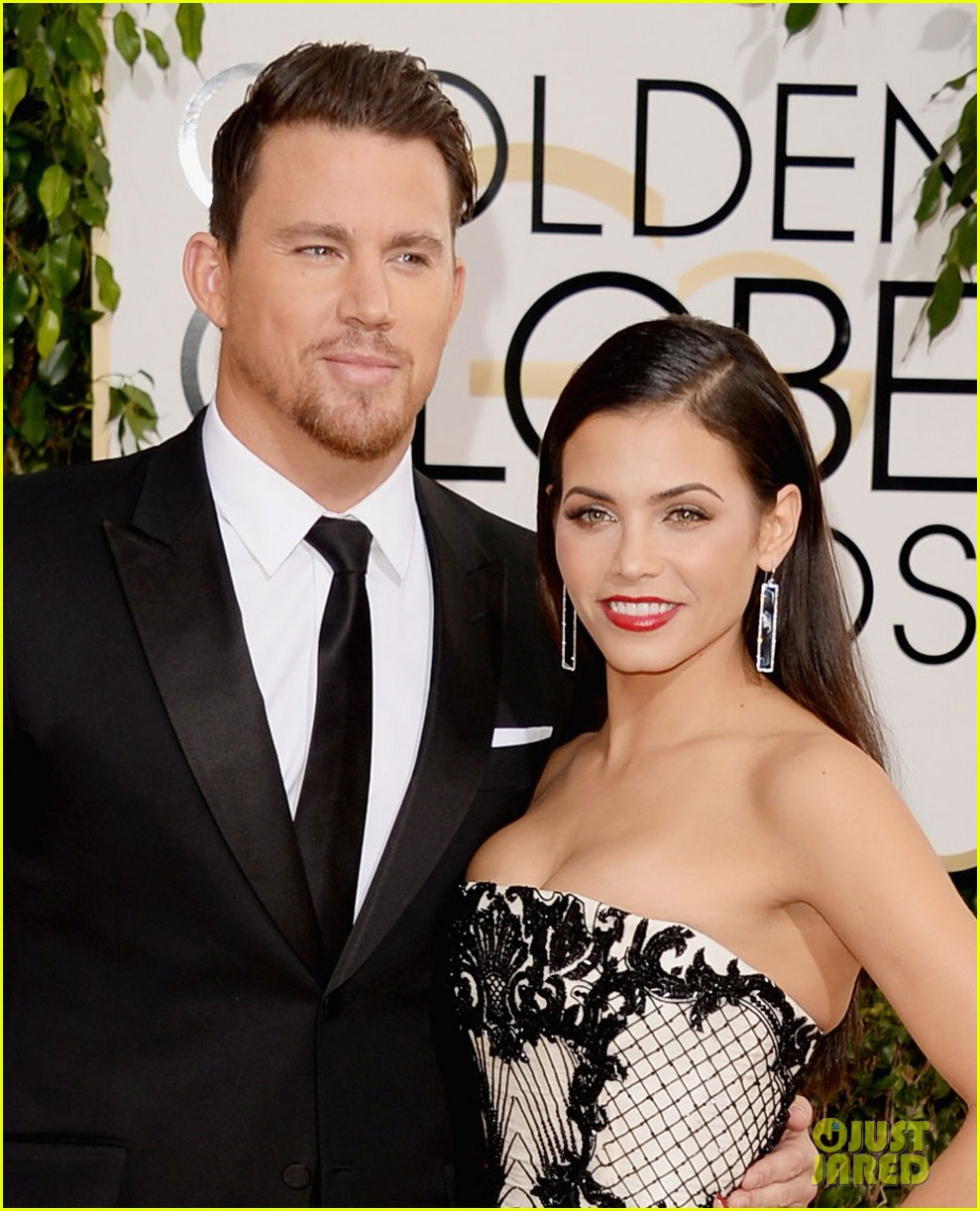 channing tatum jenna dewan golden globes 2014 red carpet 053029333