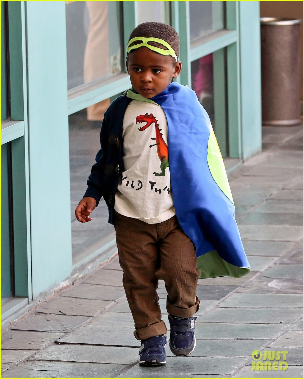 charlize theron takes caped crusader jackson to the gym 023025333