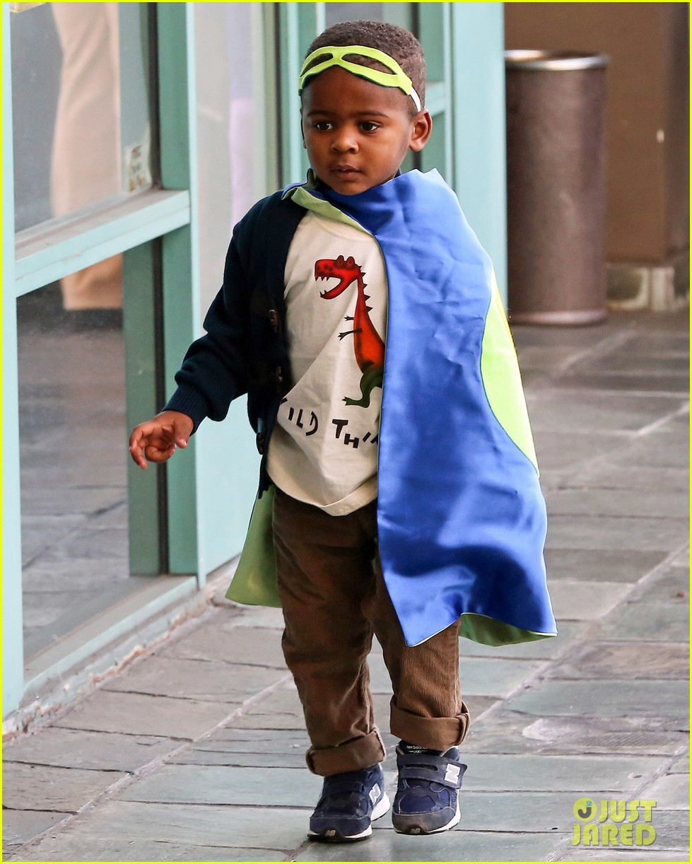charlize theron takes caped crusader jackson to the gym 053025336