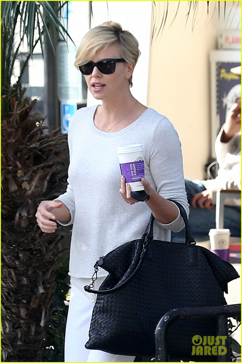 charlize theron vision in white for coffee run 023027199