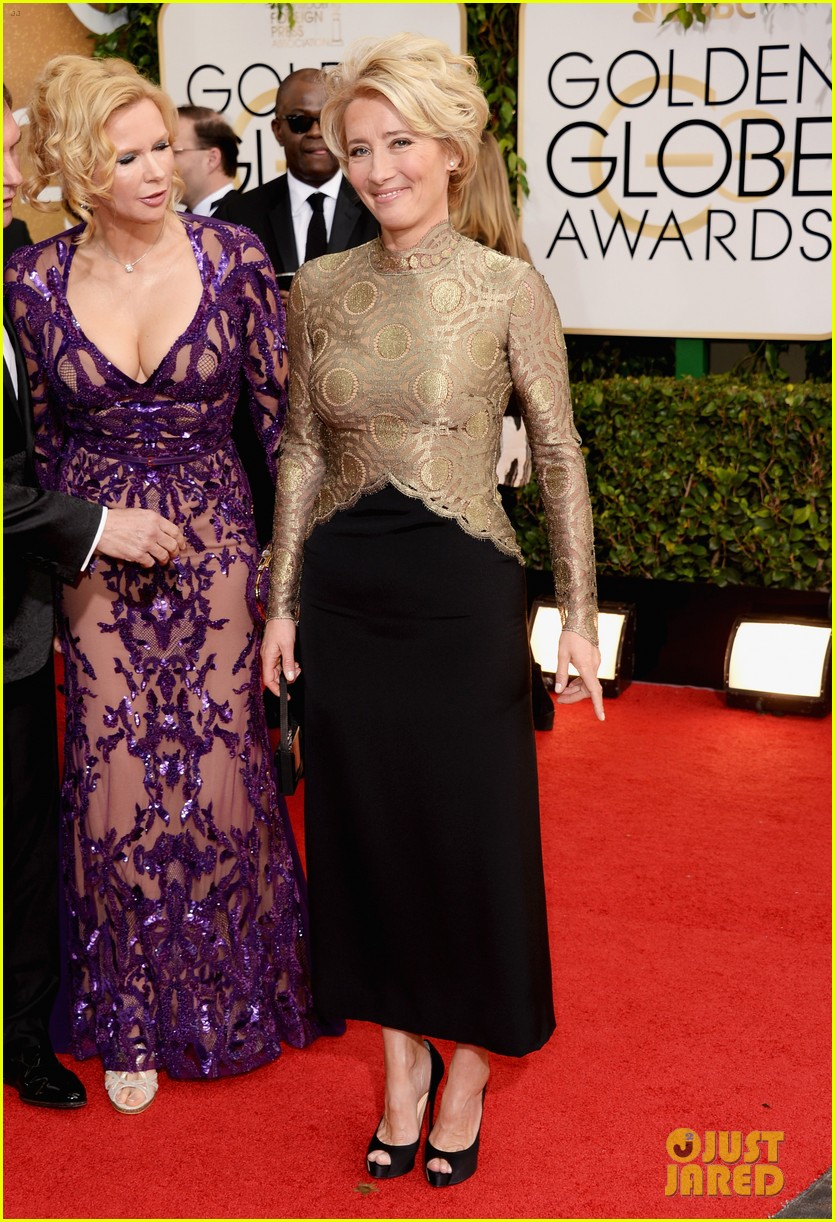 emma thompson golden globes 2014 red carpet 013029470