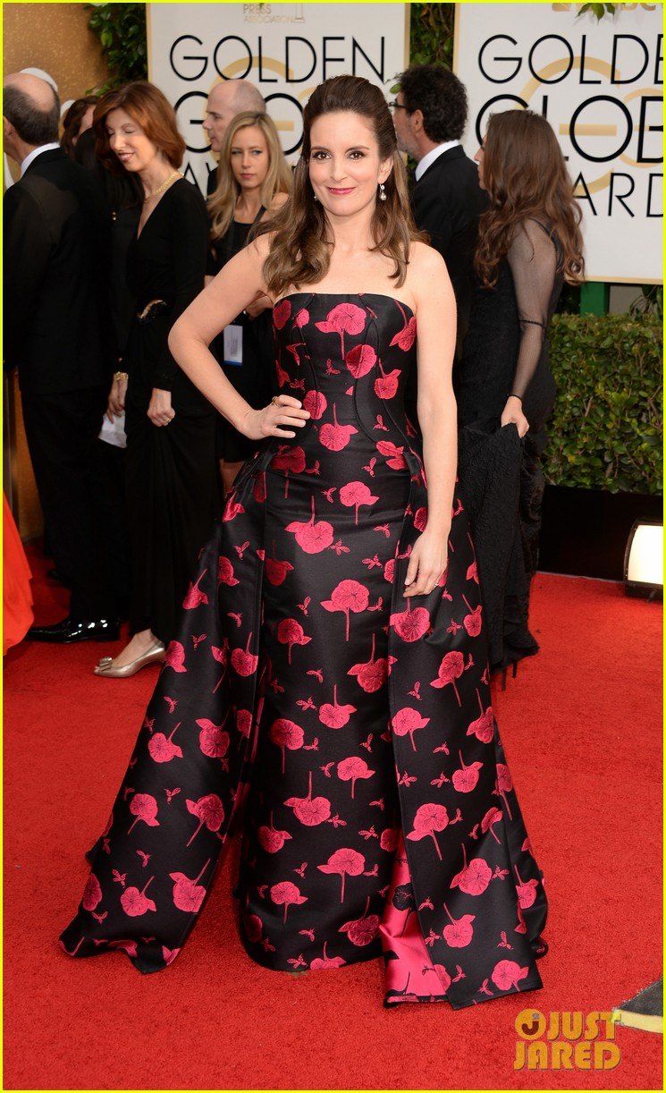 amy poehler tina fey golden globes 2014 red carpet 083029170