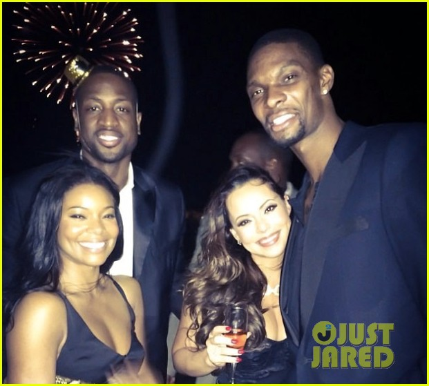 gabrielle union dwyane wade celebrate new years eve with chris adrienne bosh 01