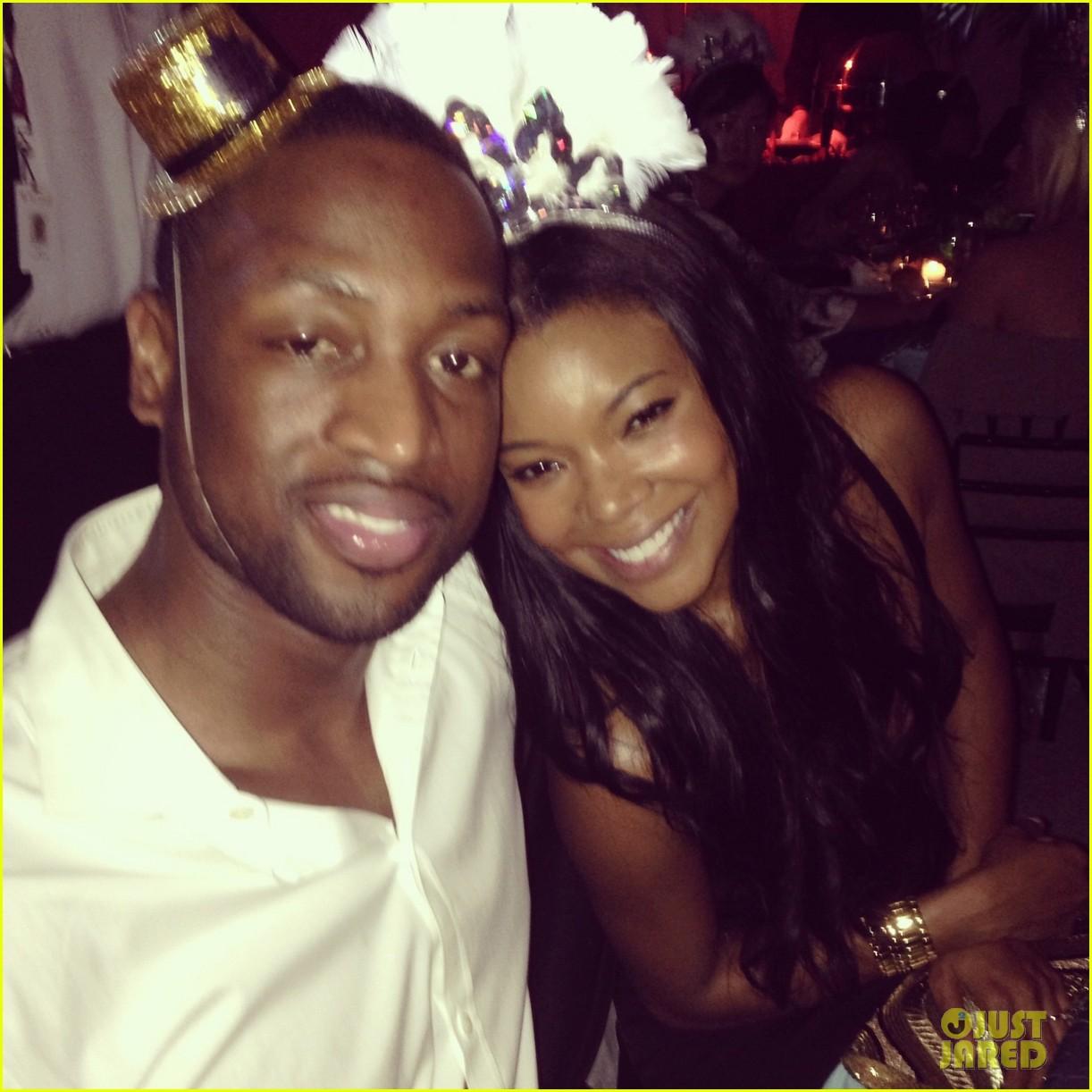 Gabrielle Union Dwyane Wade New Years with Chris Adrienne Bosh