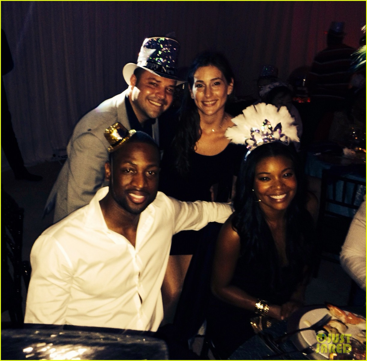 gabrielle union dwyane wade celebrate new years eve with chris adrienne bosh 03.3021523