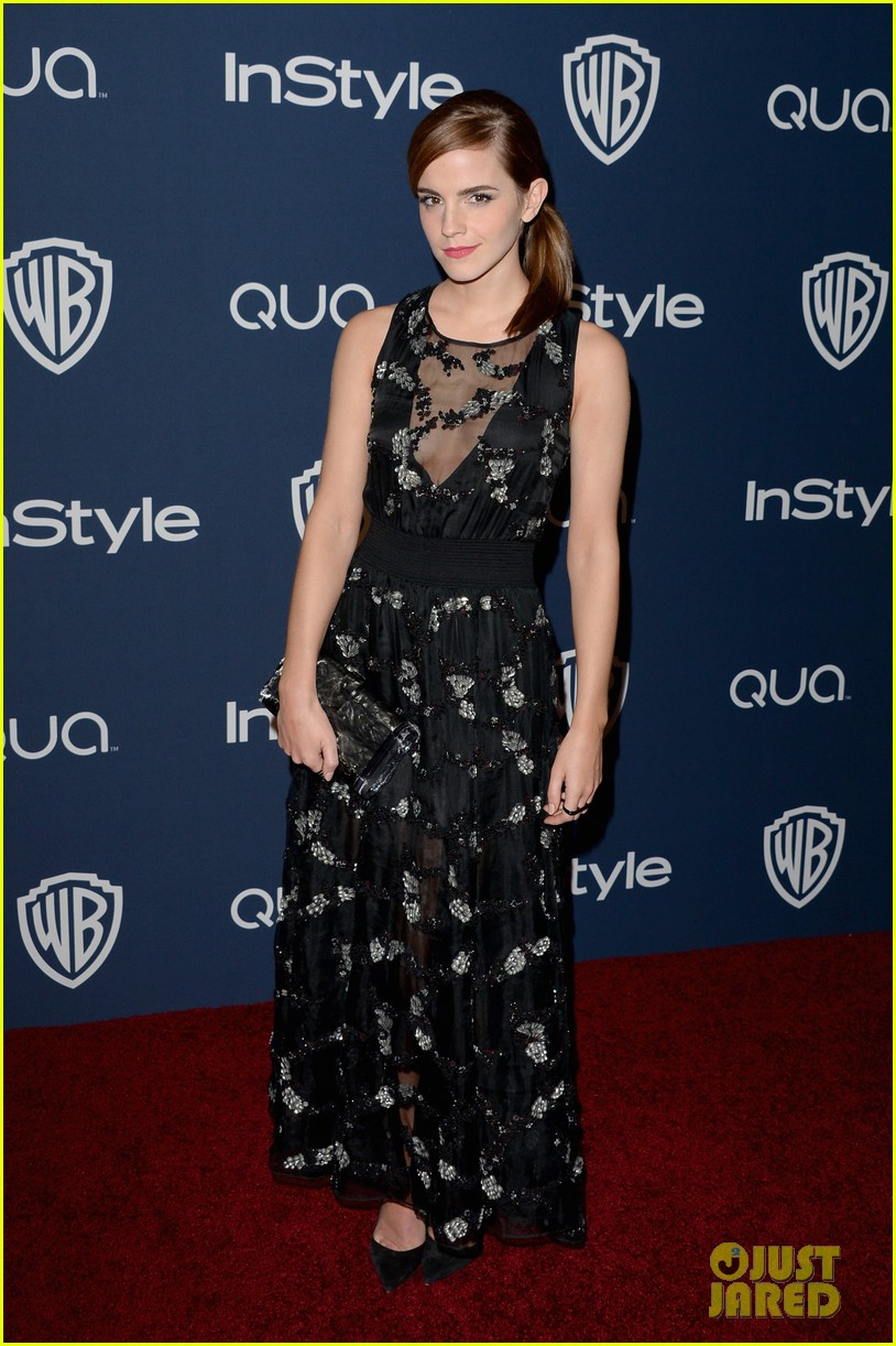 emma watson instyle golden globes party 2014 013029739