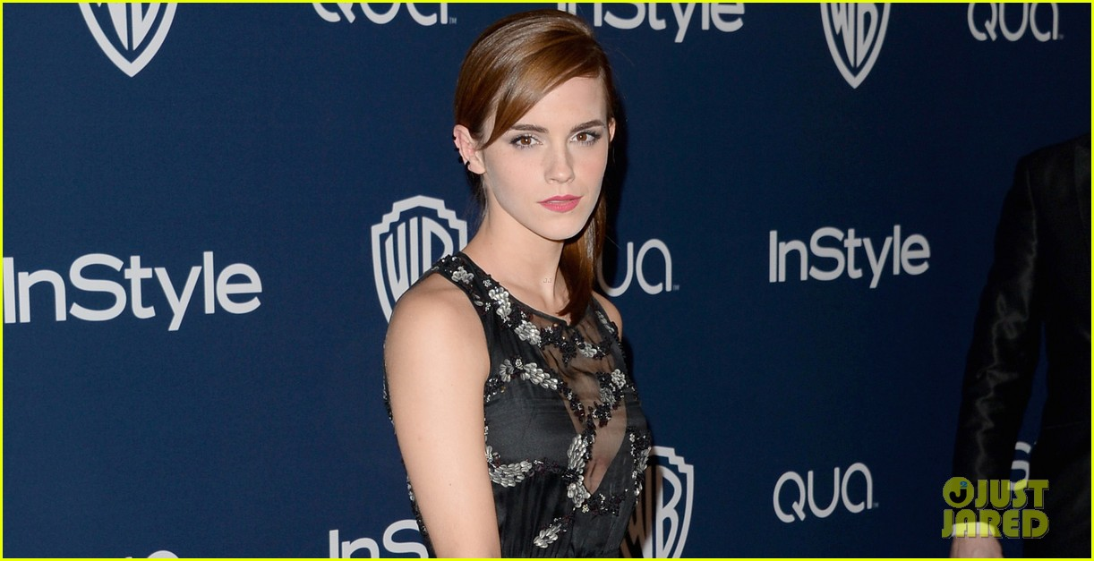 emma watson instyle golden globes party 2014 023029740