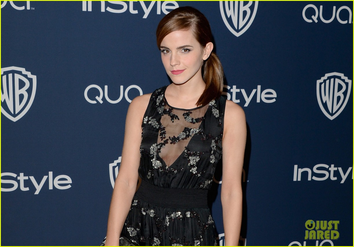 emma watson instyle golden globes party 2014 033029741