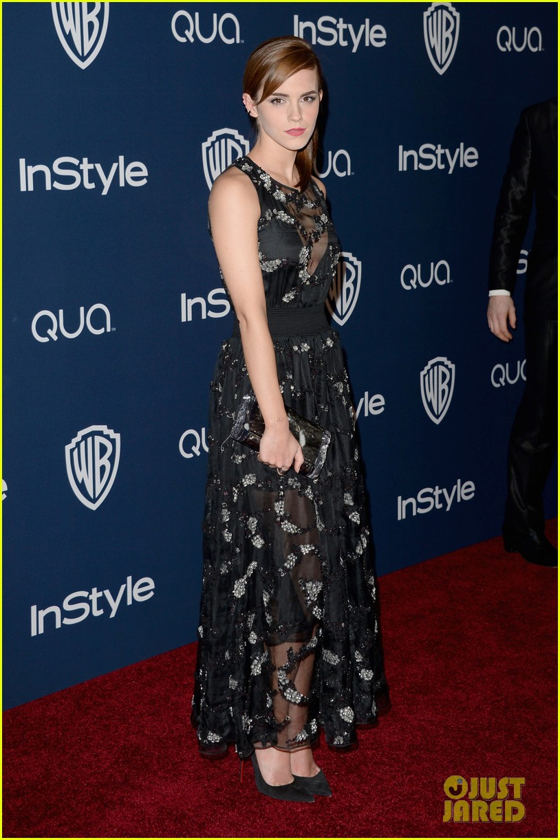emma watson instyle golden globes party 2014 043029742