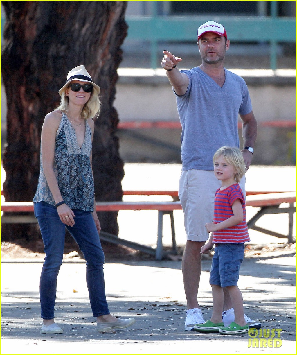 naomi watts liev schreiber run after the kids at the park 213023626