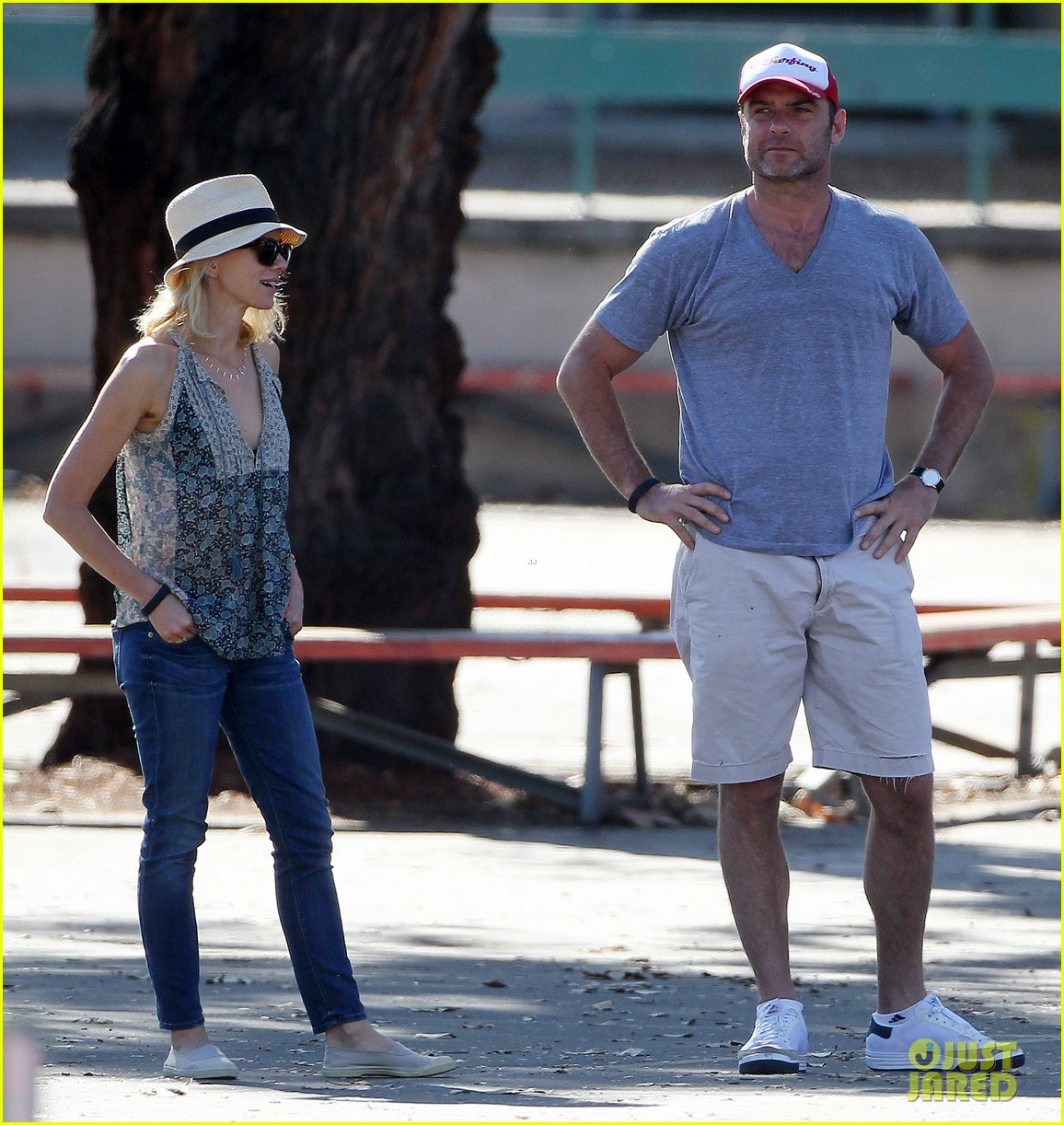 naomi watts liev schreiber run after the kids at the park 233023628