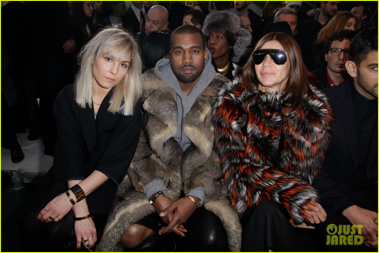 kanye west noomi rapace givenchy fashion show 073033631