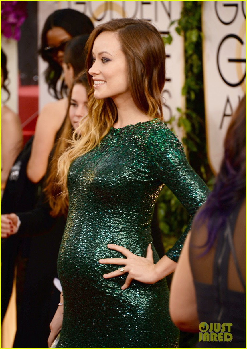 olivia wilde golden globes 2014 red carpet 043029303