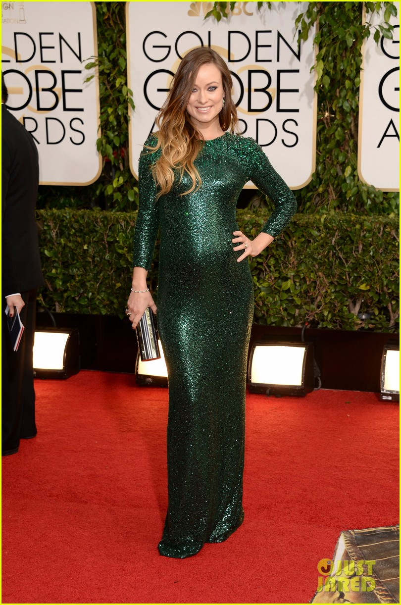 olivia wilde golden globes 2014 red carpet 093029308