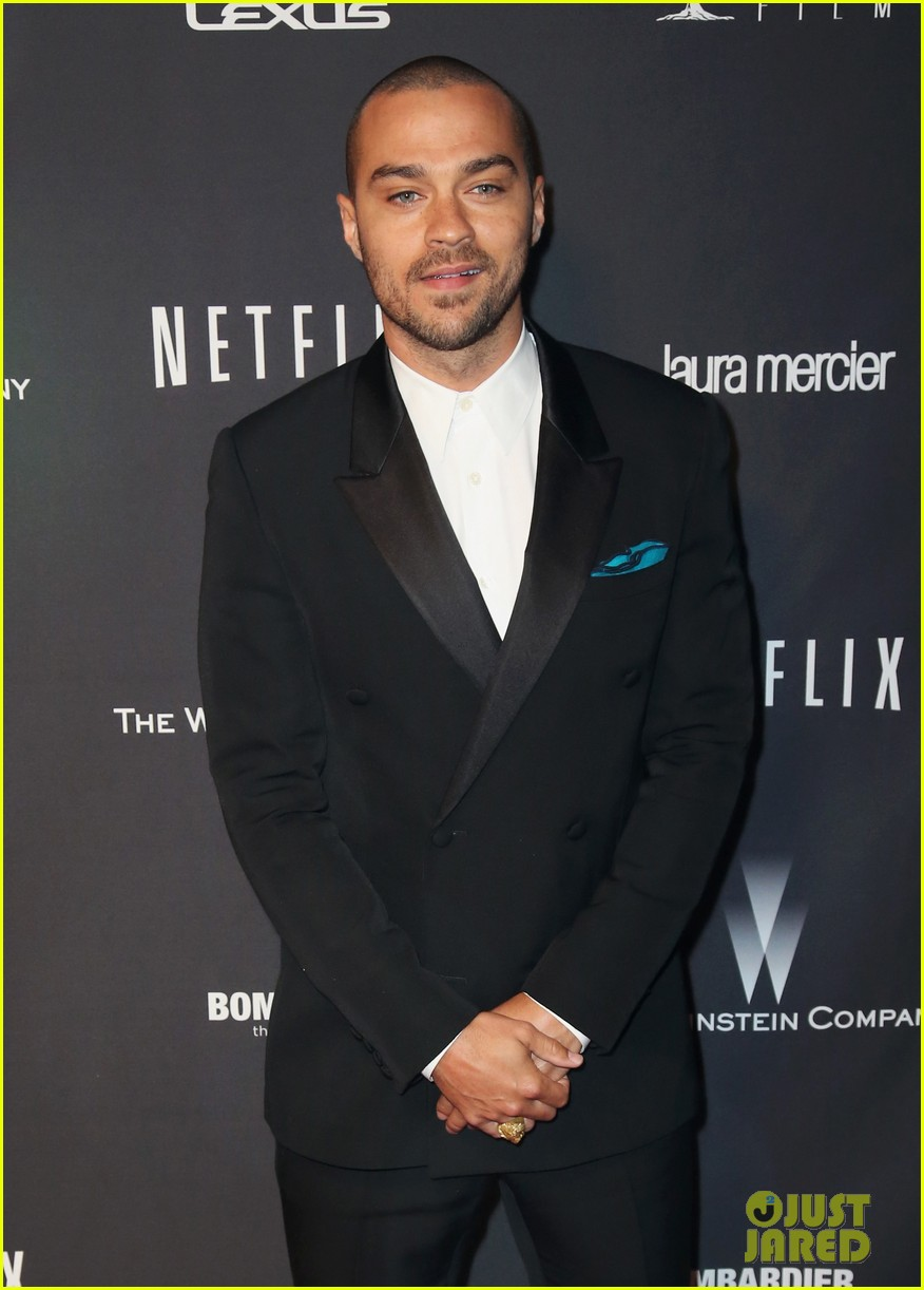 jesse williams weinsteins golden globes 2014 party 01