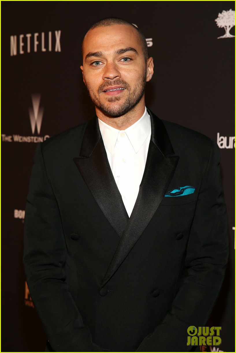 jesse williams weinsteins golden globes 2014 party 02