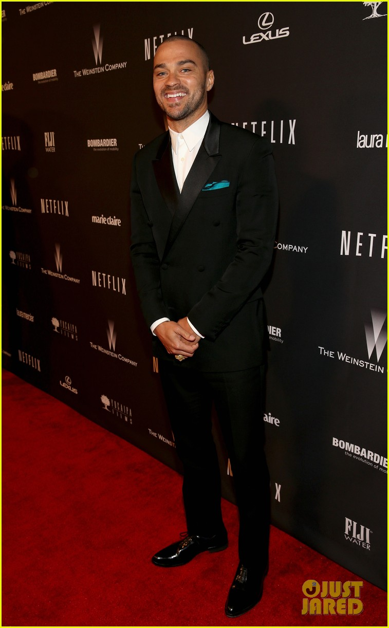 jesse williams weinsteins golden globes 2014 party 033029890