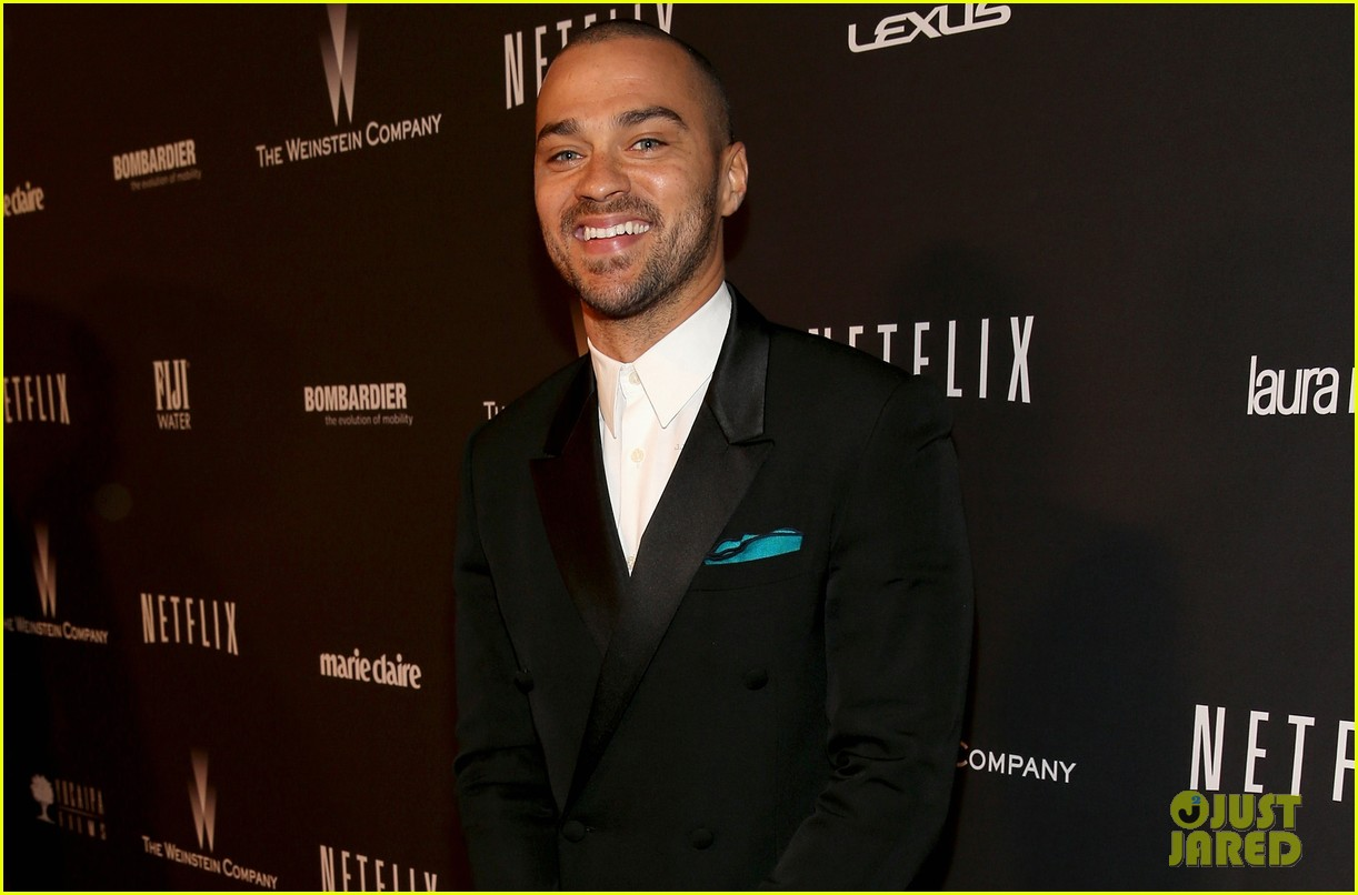 jesse williams weinsteins golden globes 2014 party 053029892
