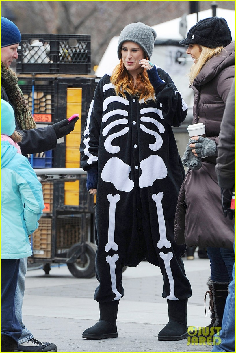 rumer willis wears skeleton onesies for songbyrd 063037164