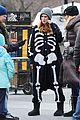 rumer willis wears skeleton onesies for songbyrd 06