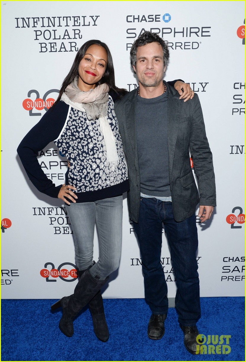 zoe saldana mark ruffalo infinitely polar bear sundance after party 033035499