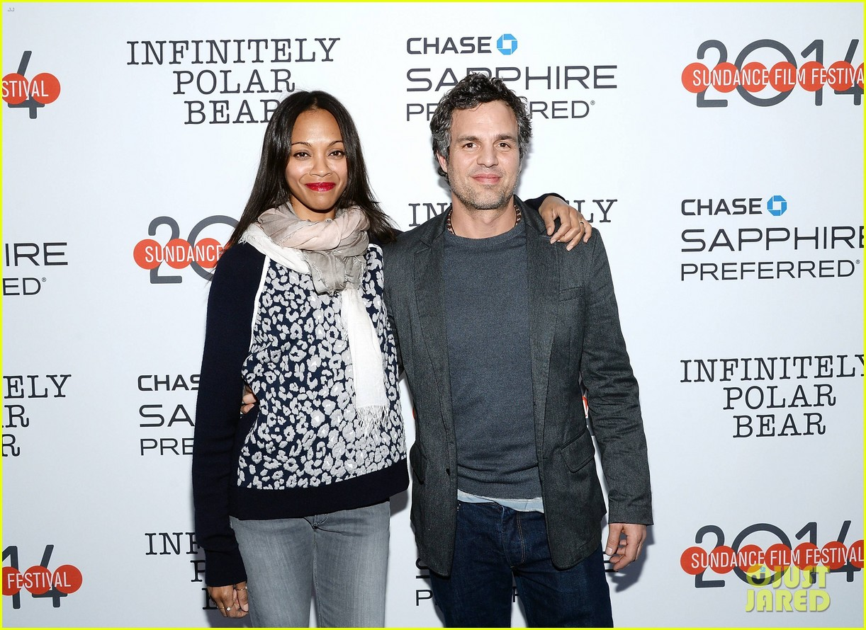 zoe saldana mark ruffalo infinitely polar bear sundance after party 093035505