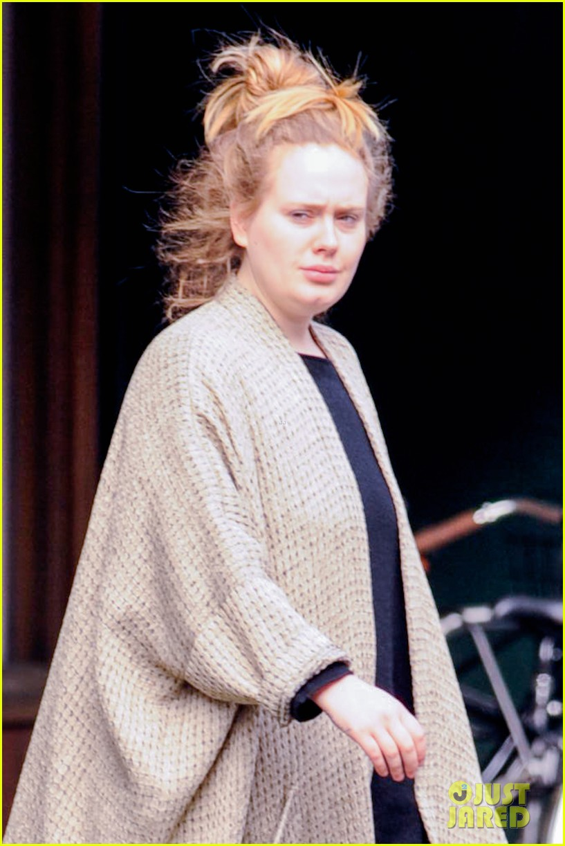 adele makes rare public appearance while shopping sans makeup 023057155