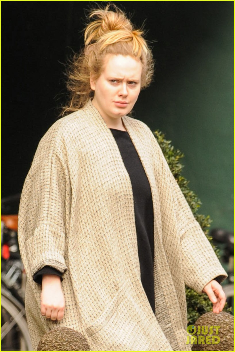 adele makes rare public appearance while shopping sans makeup 063057159