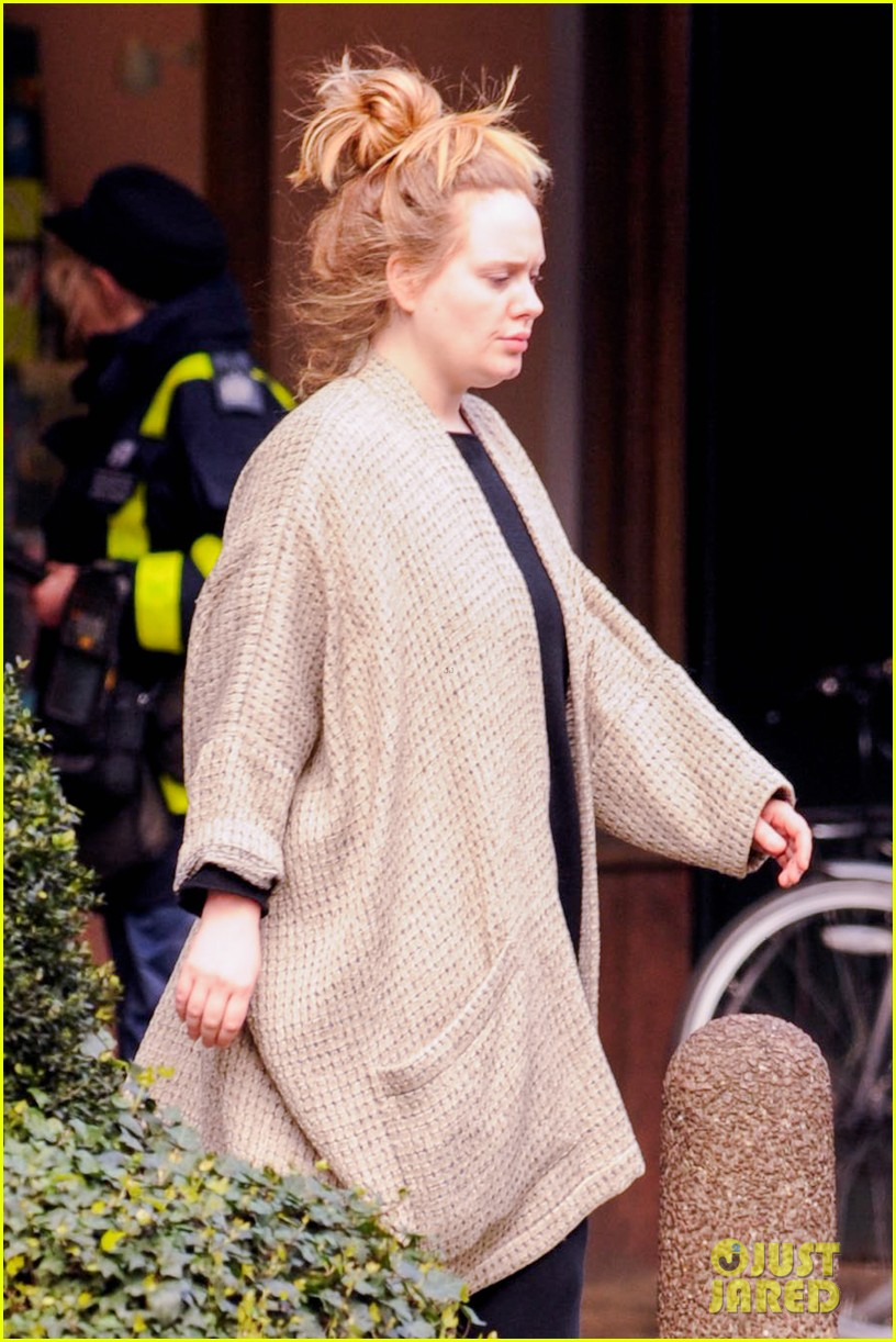 adele makes rare public appearance while shopping sans makeup 133057166