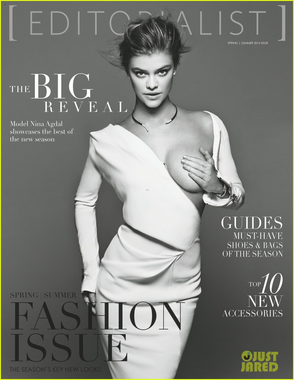 nina agdal holds boob in her hand for editorialist mag cover 023053253