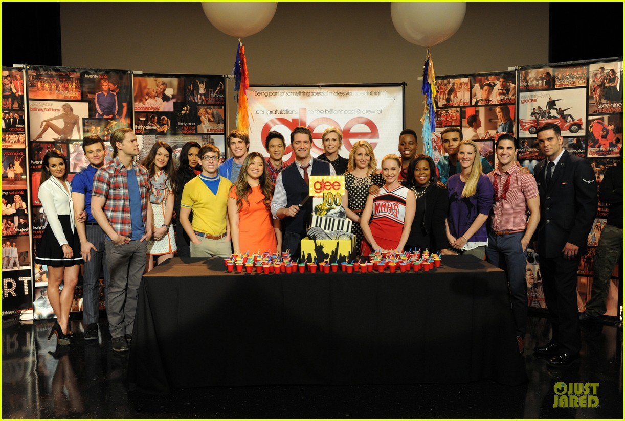 dianna agron chord overstreet glee 100th episode celebration 10
