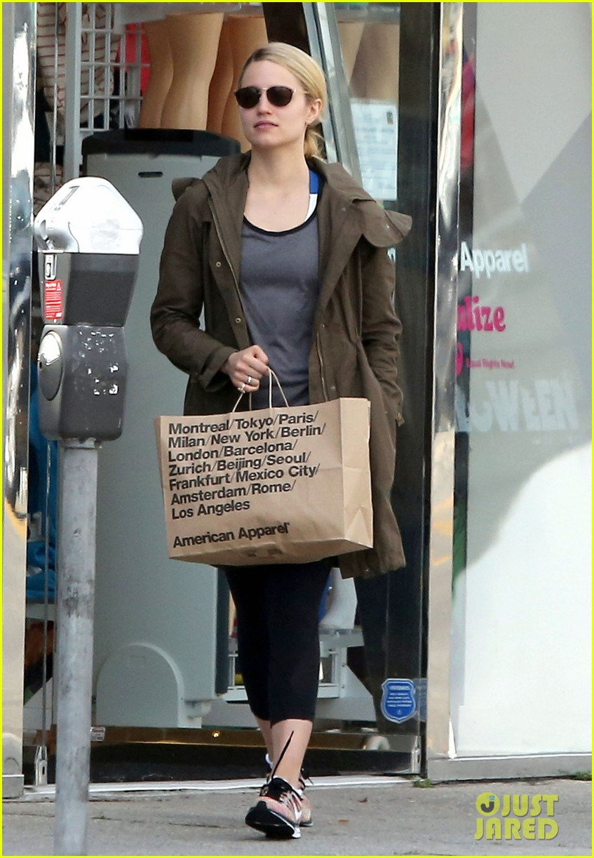 dianna agron gets her shop on at american apparel 013062363