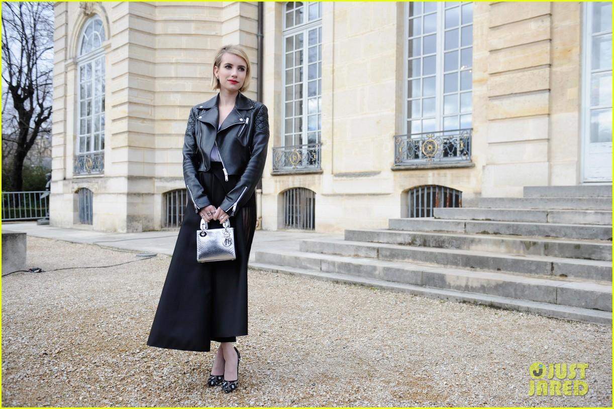 jessica alba emma roberts christian dior fashion show 123062348