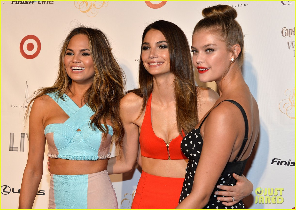 lily aldridge chrissy teigen nina agdal sports illustrated celebration in miami 093056726