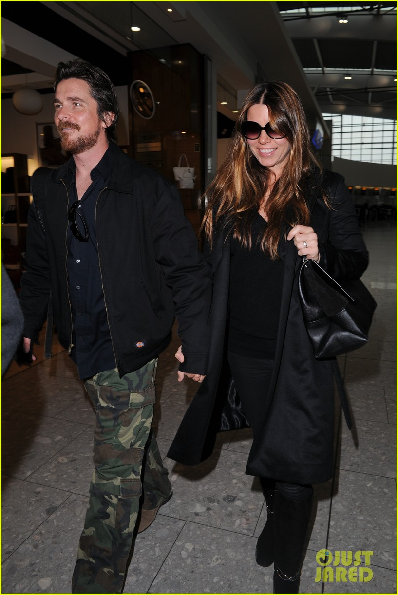 christian bale wife sibi blaszic hold hands after baftas 083055162