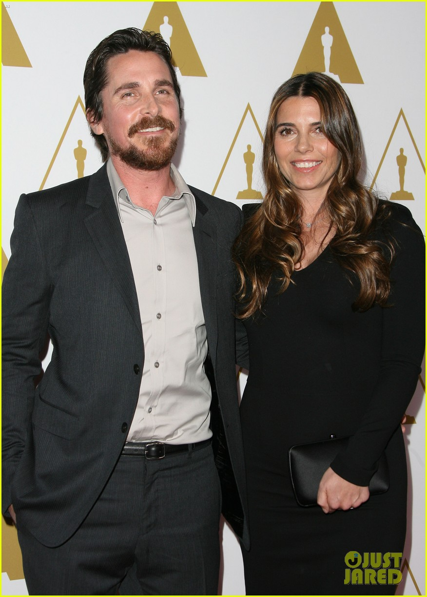 christian bale oscars nominees luncheon with wife sibi blazic 053050884