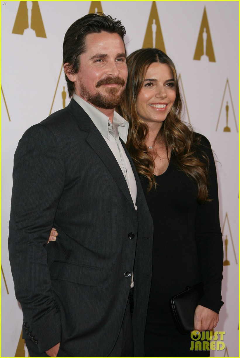 christian bale oscars nominees luncheon with wife sibi blazic 073050886