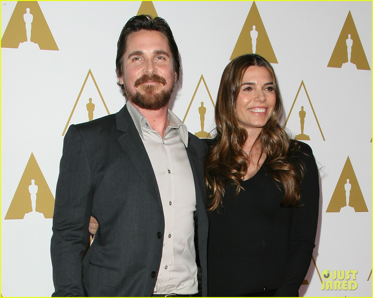 christian bale oscars nominees luncheon with wife sibi blazic 083050887